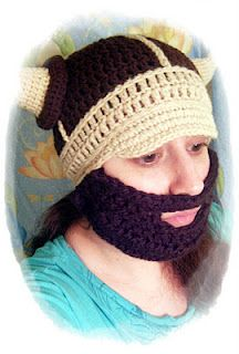Just found this. Wow. What can I say.  I was thinking Christmas pageant costume. But you might as well have a sense of humor if it is cold enough to wear this. beard pattern to add to any hat