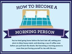 Why and How To Become A Morning Person