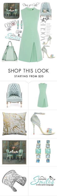 """Mint green  & gray"" by kercey ❤ liked on Polyvore featuring Old Hickory Tannery, Sophia Webster, Green Leaf Art, Ippolita, John Hardy, WALL and Loewe"