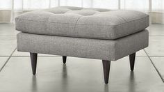 Petrie Ottoman | Crate and Barrel