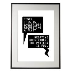 Top Gun inspired Print - Tom Cruise - Negative Ghostrider Quote - A4. $25.00, via Etsy.