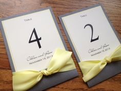 Personalized and Customizable Table Numbers - Elegant, Modern, Whimsical and Unique Table Numbers