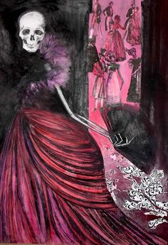 """Danse Macabre :: By Caroline Cream.✯ I love this reminds of the """"The Masque of the Red Death"""" by Edgar Allan Poe Art Macabre, La Danse Macabre, Dark Gothic, Gothic Art, Spooky Scary, Creepy, Dark Beauty Magazine, Dance Of Death, Dark And Twisted"""