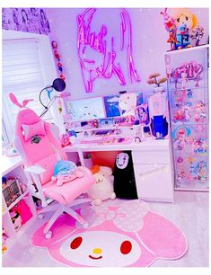 Gamer Bedroom, Bedroom Setup, Room Ideas Bedroom, Cute Room Ideas, Cute Room Decor, Kawaii Games, Gaming Room Setup, Gaming Rooms, Gaming Desk
