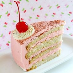 Vanilla & Cherry Cake! Perfect for Mother's Day!