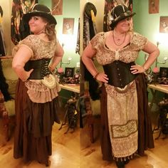 Up-cycled steam punk costume