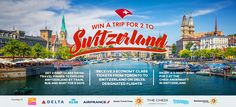 Win a Trip for 2 to Switzerland
