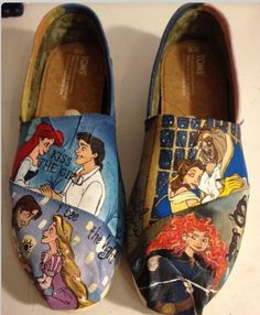 Custom Disney toms : Disney movies : Ariel : tangled : beauty and the beast : brave