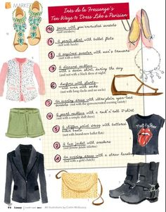 'How to dress like a Parisian' via Inès de la Fressange