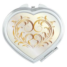 Filigree Heart - Red Gold - Compact 1 #mirror