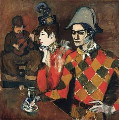 Pablo Picasso. At the Lapin Agile. 1905