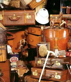 Vintage luggage - iconic leather finishing touches for the interior of my dream Encore would be ideal! #pinmyencore