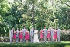 Pink & Grey is such a pretty palette   Suzy &  Ryan // Married at the William Penn Inn