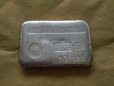 Vintage Perth Mint 10 oz Silver Bar