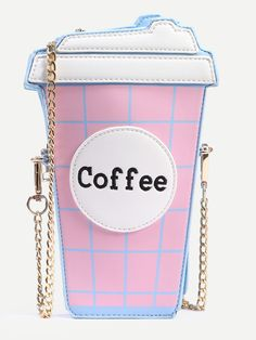 Shop Pink Coffee Cup Shaped Chain Bag online. SheIn offers Pink Coffee Cup  Shaped Chain 63b1f015735f9