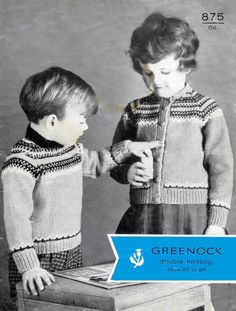 Vintage PDF Knitting Baby Patterns  Greenock 875 by 1vintagescot, $1.75 perfect scand. sweater pattern vintage