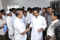 Kiran Kumar Reddy with JSP members.