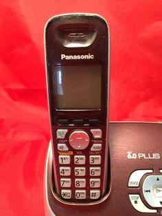 Panasonic KX TG6572R 1 9 GHz Single Handset Single Line Cordless Phone Purple | eBay