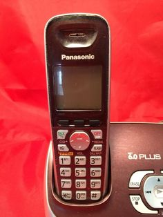 Panasonic KX TG6572R 1 9 GHz Single Handset Single Line Cordless Phone Purple | eBay