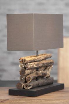 Tischlampe aus Strandgut...