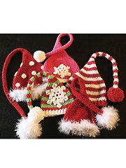 Crochet Stocking Caps Pattern Download from AnniesCatalog.com. Order here: https://www.anniescatalog.com/detail.html?prod_id=113483&cat_id=362