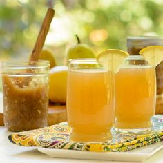 Pear Butter Sparklers are a wonderful fall beverage.
