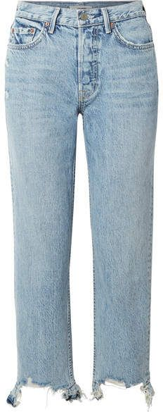 Light-blue denim Partially concealed button fastenings along front cotton, spandex Machine wash Designer wash: Hold On Leigh Miller, Vintage Mom Jeans, Jamie Chung, Sneaker Brands, Light Denim, Distressed Jeans, 90s Fashion, Blue Denim, Legs