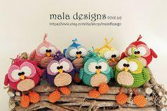 little birds crochet pattern by mala designs von malaDesign auf Etsy