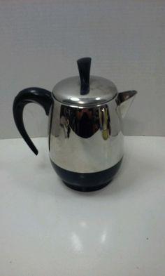 Vintage Farberware Superfast 2-4 Cup Electric Coffee Tea Percolator Model FCP240