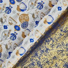 Buy Vivid Winter Palace Snow Queen/Gold Crush Gift Wrap, x Sheet, Pack of 2 from our Christmas Gift Wrap, Bags & Ribbons range at John Lewis & Partners. Gift Wrapper Design, Cotton Gifts, Winter Palace, Snow Queen, Gold Ink, Vivid Colors, Vibrant, Luxury Gifts, Christmas Inspiration