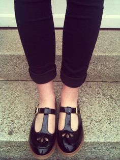 Black Patent Shoes - Topshop