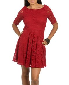 Lace Skater Dress (Red). Wet Seal. $29.50