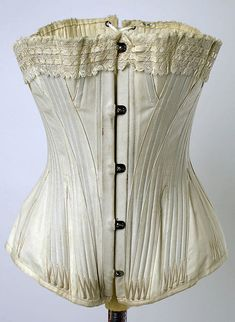 Corset Date: 1880s Culture: American Medium: [no medium available] Dimensions: [no dimensions available] Credit Line: Gift of Mrs. Erastus Hopkins, 1939 Accession Number: C.I.39.18.1