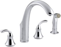 Kohler K-10445 Widespread Kitchen Faucet with Sidespray from the Forte Collectio