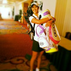"March 13, 2013: ""Got my new @Kia Hardy golf bag today and I LOVE IT!!!!!! It is so much fun!!,"" tweeted an enthusiastic Michelle Wie (@Michelle Wie)."