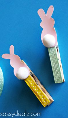 bunny clothespin easter craft