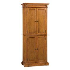 Americana Home Styles Warm Oak Pantry Kitchen Cabinetsstorage