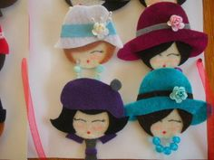 HAZELDESİGN: felt brooches baby