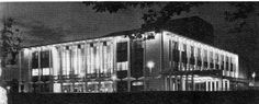 Johannesburg Civic Theatre, as it as at the opening, exterior by night Civic Theatre, Cinema Theatre, My Family History, Theatres, New Zealand, South Africa, Cities, Nostalgia, African