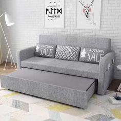 Sofa Bed Living Room, Living Room Sofa Design, Bedroom Bed Design, Bedroom Furniture Design, Room Ideas Bedroom, Sofa Bed Bedroom Ideas, Living Room With Grey Sofa, Sofa Come Bed Furniture, Sofa Cumbed Design