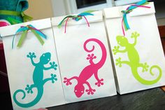cute gecko party ideas and etsy purchases