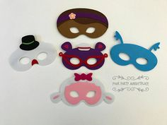 Check out this item in my Etsy shop https://www.etsy.com/listing/524220419/set-of-5-doc-mcstuffin-party-masks-doc
