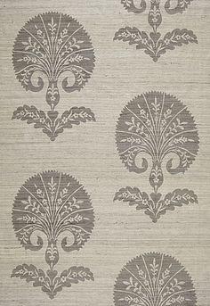 Ottoman Flower in Moonstone from Schumacher Fabrics