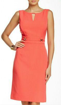 Petite Fashion Tips .Petite Fashion Tips Stylish Dresses, Casual Dresses, Plus Size Dresses, Dresses For Work, Dress Outfits, Fashion Dresses, Dress Making Patterns, Coral Dress, Crepe Dress