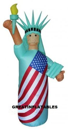 4TH OF JULY INFLATABLE 9 TALL STATUE OF LIBERTY WITH SKIN COLOR >>> Click on the image for additional details.Note:It is affiliate link to Amazon. #clouds