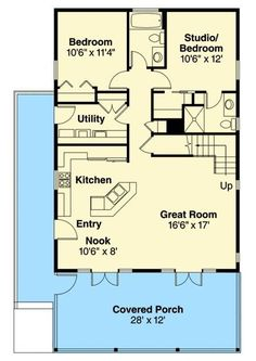 Vacation Cabin With Bonus Above Floor Master Suite Bonus Room Butler Walkin Pantry CAD Available Cottage Country Narrow Lot PDF Vacation Wrap Around Porch. Basement House Plans, Cabin Floor Plans, Bungalow House Plans, Small House Plans, Bungalow Homes, Garage Plans, The Plan, How To Plan, Master Suite