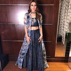 It's trendy Lehnga Dress, Lehenga Choli, Anarkali, Jacket Lehenga, Bridal Lehenga, Dress Indian Style, Indian Dresses, Indian Outfits, Indian Designer Outfits