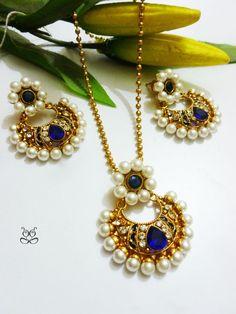 Buy pearl #necklace set shop online from #craftshopsindia   #jewellery