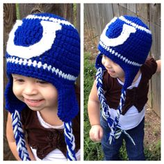Colts Hat - Crochet Colts inspired Hat - All sizes Indianapolis colts  on Etsy, $25.00