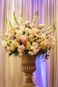Elegant urn arrangement  created by Mockingbird Florist